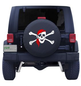 Happy Pirate Flag Tire Cover