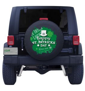 St. Patrick's Day Tire Cover Front