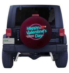 Neon Valentines Tire Cover
