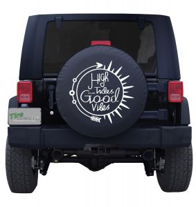 High Tides and Good Vibes Custom Tire Cover