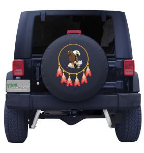 Mustang and Eagle in Dreamcatcher Tire Cover