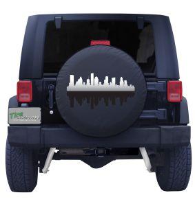 Houston Skyline Tire Cover
