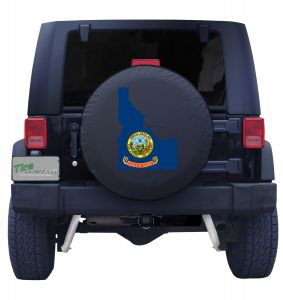 Idaho State Outline Flag Tire Cover