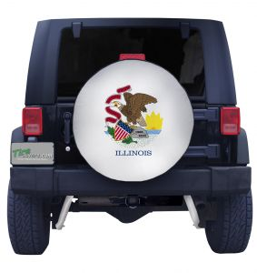Illinois State Flag Closeup Tire Cover Front