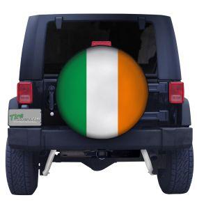 Irish Flag Closeup Tire Cover Front