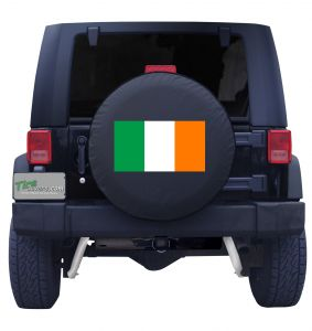 Irish Flag Tire Cover Front