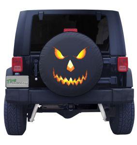 Halloween jack O Lantern Tire Cover