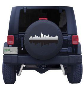 Jackson Mississippi Skyline Tire Cover