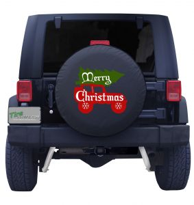 Jeep Christmas Tree Tire Cover Front