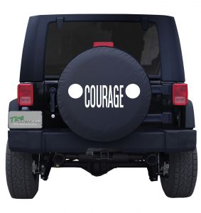 Jeep Grill Courage Custom Tire Cover