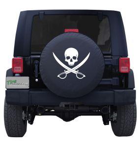 Jolly Roger Clean Custom Tire Cover