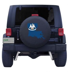 Louisiana State Outline Flag Tire Cover