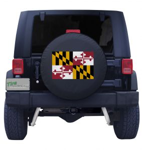 Maryland State Flag Tire Cover Front