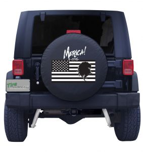 merica Flag Tire Cover front