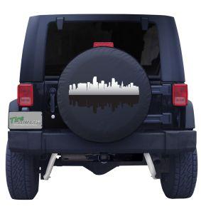 Miami Florida Skyline Tire Cover