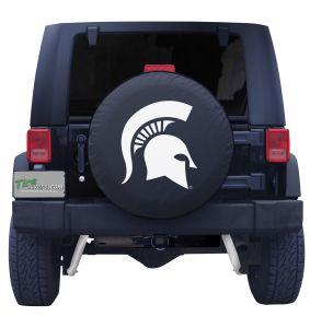 Michigan State University Spare Tire Cover Black Vinyl Front