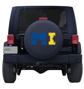 Michigan MI Wolverine Flag Tire Cover