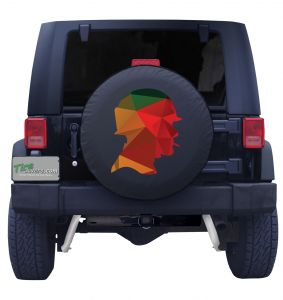 Soldier Outline Tire Cover Front