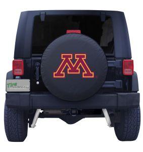 University of Minnesota Spare Tire Cover Black Vinyl Front
