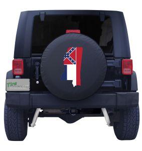 Mississippi State Outline Flag Tire Cover