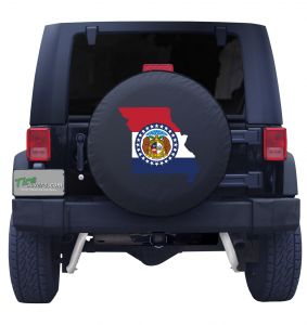 Missouri State Outline Flag Tire Cover