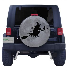 Flying Witch Tire Cover
