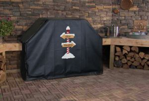 Naughty or Nice North Pole Custom Grill Cover