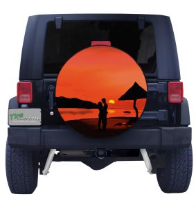 Night Moves Sunset Tire Cover