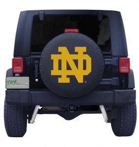 University of Notre Dame ND Spare Tire Cover Navy Vinyl Front
