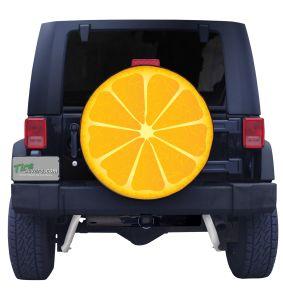 Orange Slice Tire Cover Front