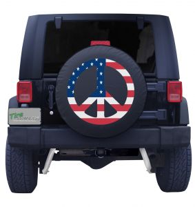 American Flag Peace Sign Side