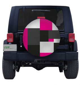 Large Pink Block Camouflage Tire Cover Jeep Wrangler