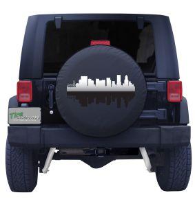Portland Oregon Skyline Tire Cover