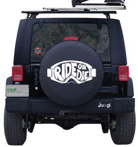 Ride or Die Ski Goggles Custom Tire Cover