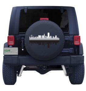 San Francisco California Skyline Tire Cover