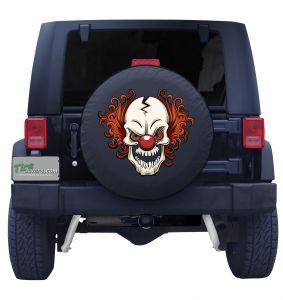 Scary Clown Tire Cover