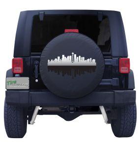 Seattle Washington Skyline Tire Cover