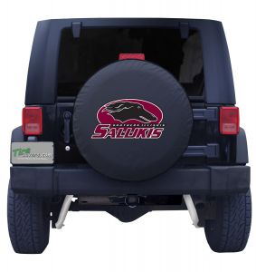 Southern Illinois University Spare Tire Cover Black Vinyl Front