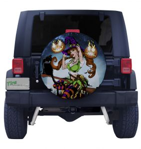 Sultry Witch Tire Cover