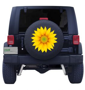 Sunflower Tire Cover