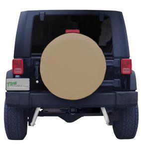Plain Tan Spare Tire Cover