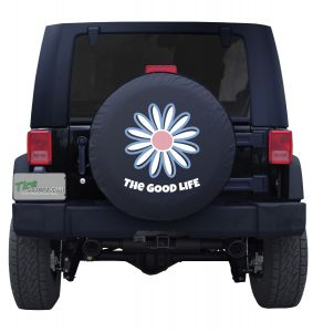 The Good Life Blue Flower Custom Tire Cover