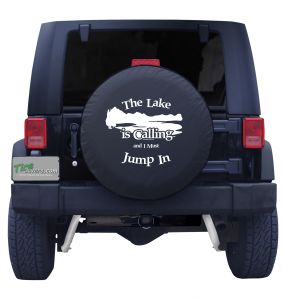 The Lake is Calling Custom Tire Cover
