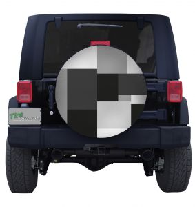 Large Urban Block Camouflage Tire Cover Jeep Wrangler