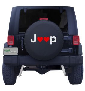 Valentines Day Jeep Heart Tire Cover Front