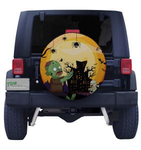 Zombies and Spiders Tire Cover