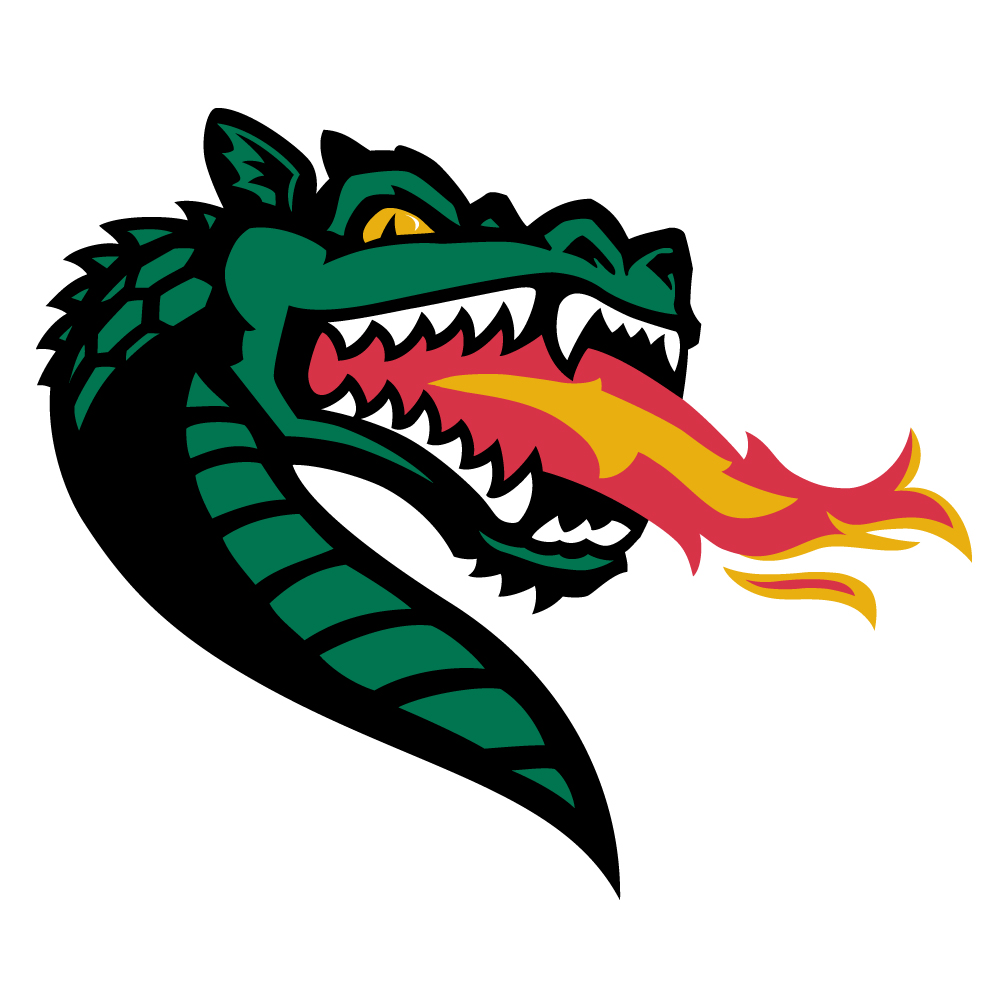 University of Alabama Birmingham Blaze the Dragon Logo