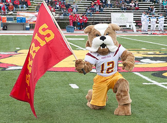 Ferris State University Brutis the Bulldog Mascot