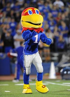 University of Kansas Logo Big Jay Mascot