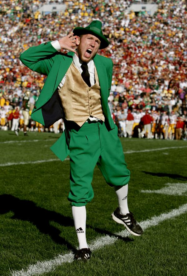 University of Notre Dame Leprechaun Mascot